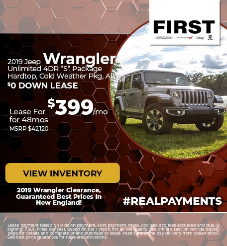 October 2019 Jeep Wrangler Lease