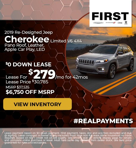 October 2019 Jeep Cherokee Lease