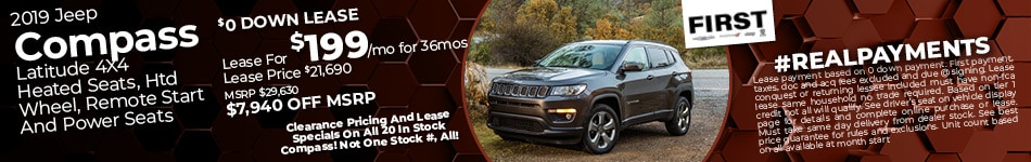 October 2019 Jeep Compass Lease