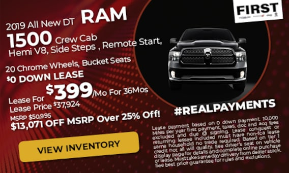 First Chrysler, Dodge, Jeep, Ram | New & Used Car Dealer in