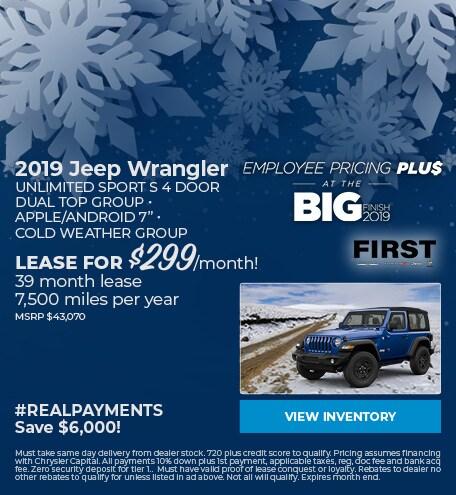 December 2019 Wrangler Lease