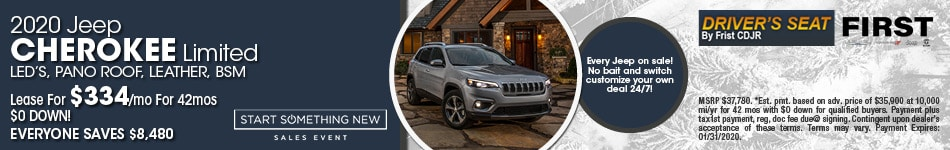 January 2020 Jeep Cherokee Lease