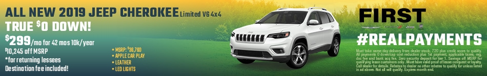 April 2019 Cherokee Lease