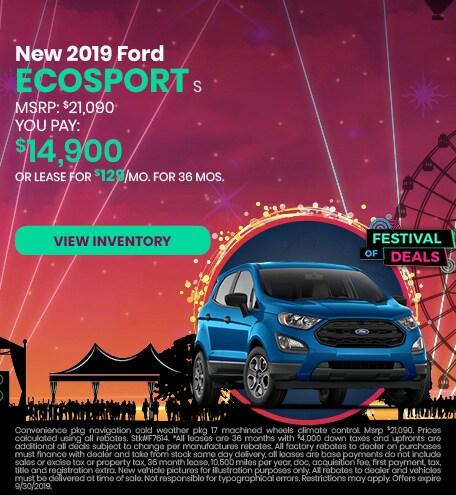 September 2019 Ford EcoSport Offer