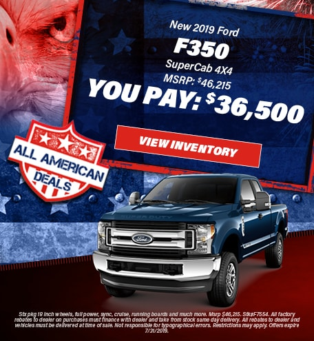 July 2019 F-350 You Pay 36,500