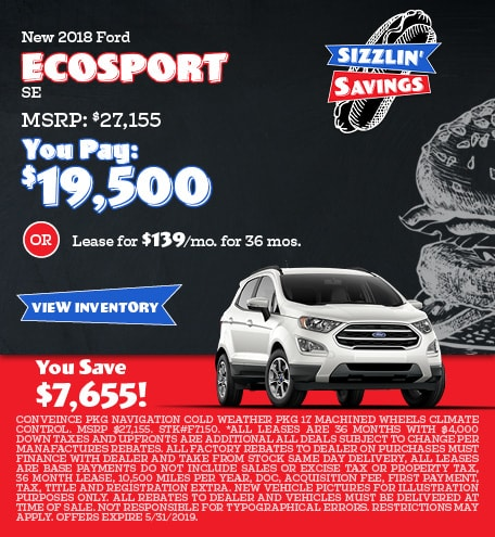 May 2018 Ecosport Offers