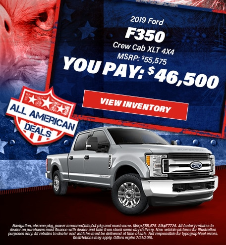 July 2019 F-350 You Pay $46,500