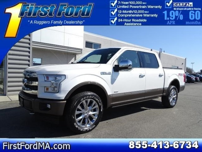 Certified Used 2017 Ford F-150 Lariat Supercrew 4x4 w/Twin Panel Moonroof, Nav Truck For Sale Fall River, MA