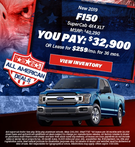 July 2019 F-150 You Pay 32,900