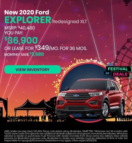 September 2020 Ford Explorer Lease