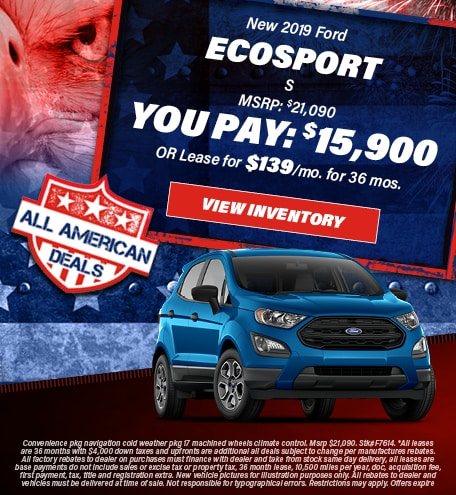 July 2019 EcoSport You Pay 15,900