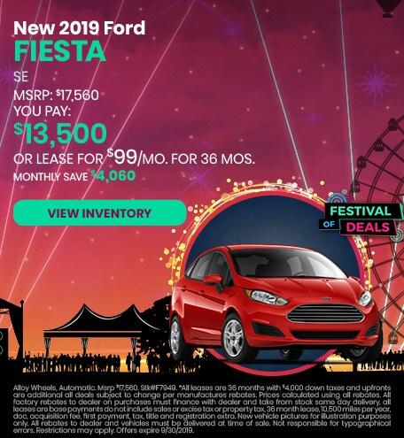 September 2019 Ford Fiesta Offer