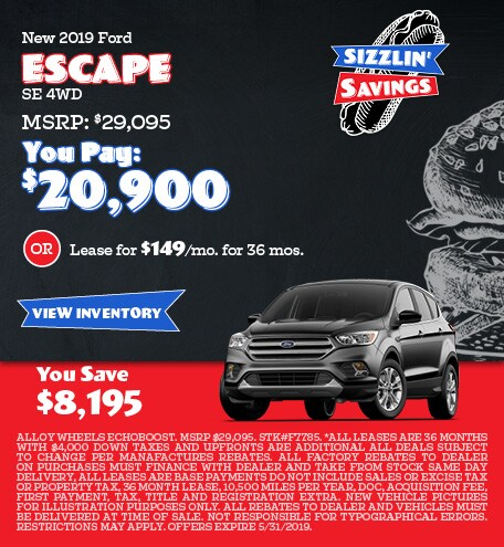 May 2019 Escape Offers