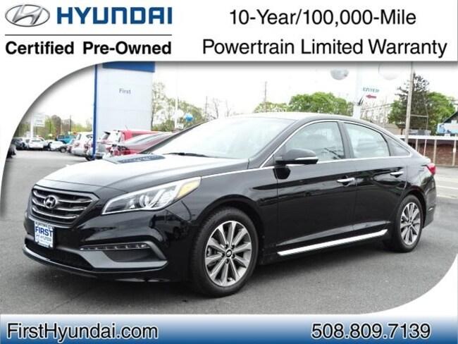 Certified-Used 2016 Hyundai Sonata Limited Sedan For-Sale-North-Attleboro-MA