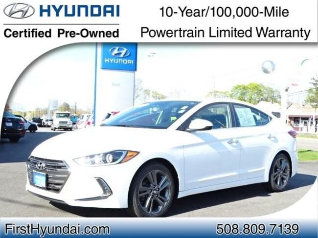 Certified-Used 2017 Hyundai Elantra Limited Sedan For-Sale-North-Attleboro-MA