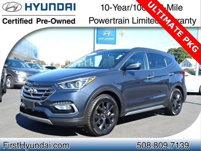 Certified-Used 2017 Hyundai Santa Fe Sport 2.0L Turbo Ultimate SUV For-Sale-North-Attleboro-MA