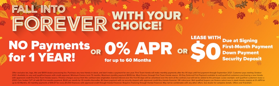 FALL INTO FOREVER WITH YOUR CHOICE!
