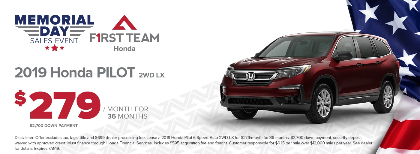 Honda Lease Finance Specials First Team Honda