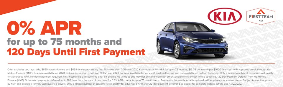 0% APR for 75 Months & No Payments for 120 Days!