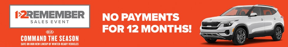 1-2 Remember Sales Event: NO Payments for 12 MONTHS!