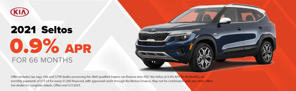 2021 Seltos  0.9% APR for 66 Months