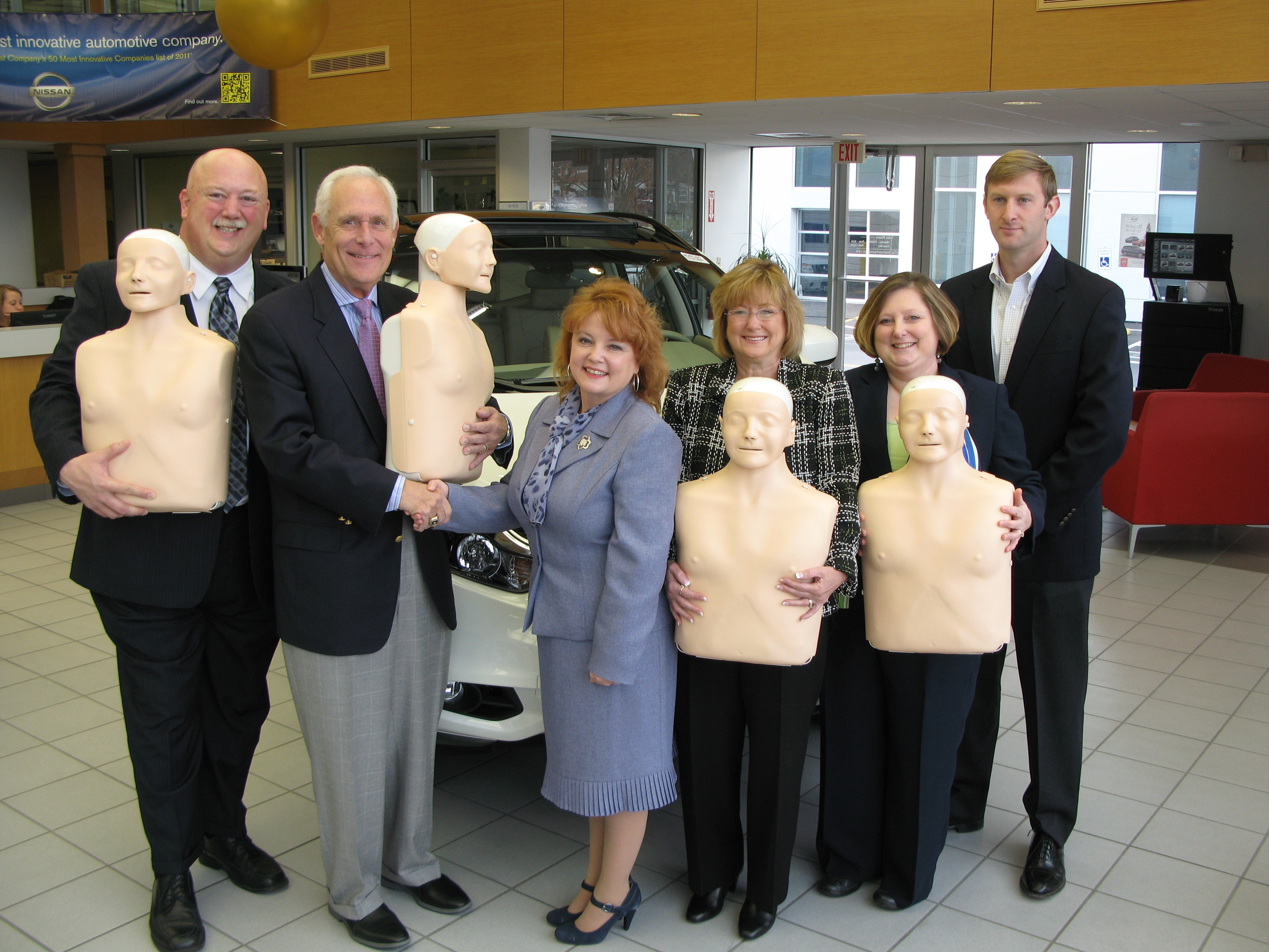 First team auto mall local dealers donate cpr training for Rick woodson honda roanoke va