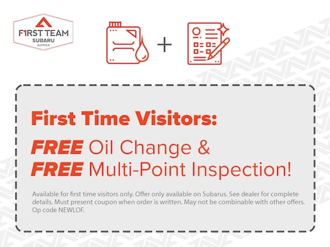 First Time Visitors: FREE Oil Change and FREE Multi-Point Inspection!