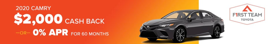 2020 Camry $2,000 Cash Back OR 0% APR for Up To 60 Months