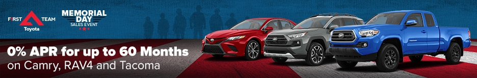 0% APR for 60 Months on Camry, RAV4 AND Tacoma