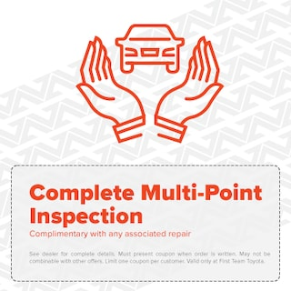 Complete Multi-Point Inspection - Complimentary with any associated repair