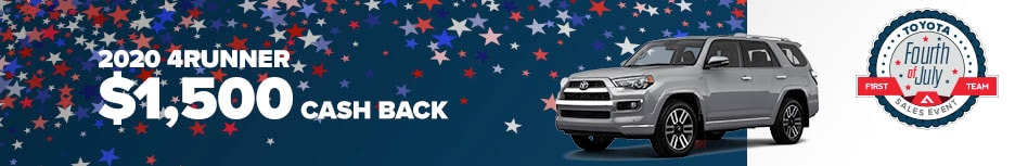 2020 4Runner  $1,500 Cash Back