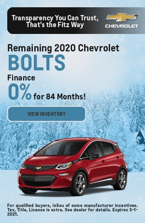 February |  2020 Chevrolet Bolts | Finance