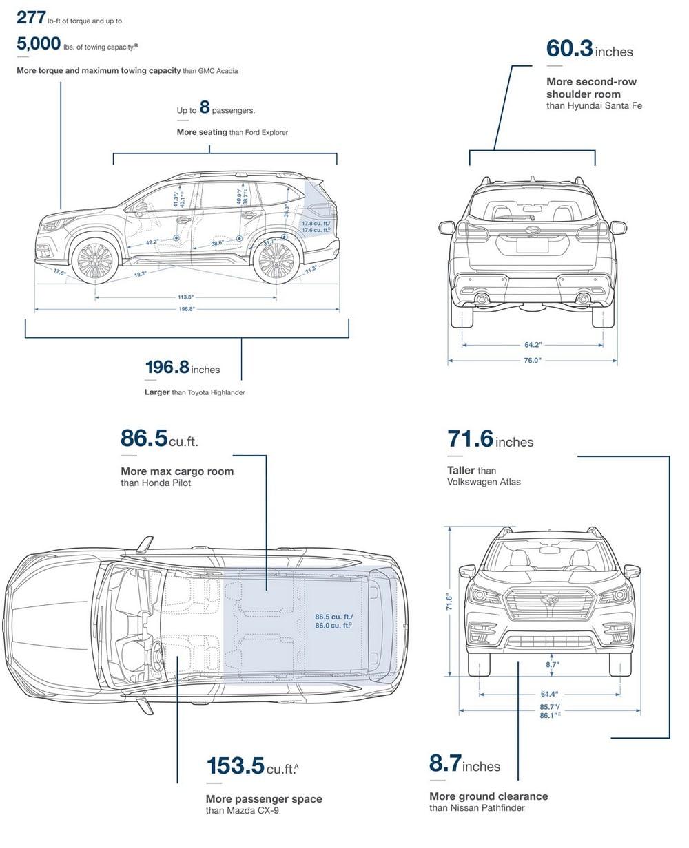 2019 Subaru Ascent Dealer In Dallas Fort Worth Grapevine Tx Front Axle Diagram Prominent