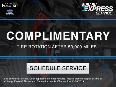 Complimentary Tire Rotation
