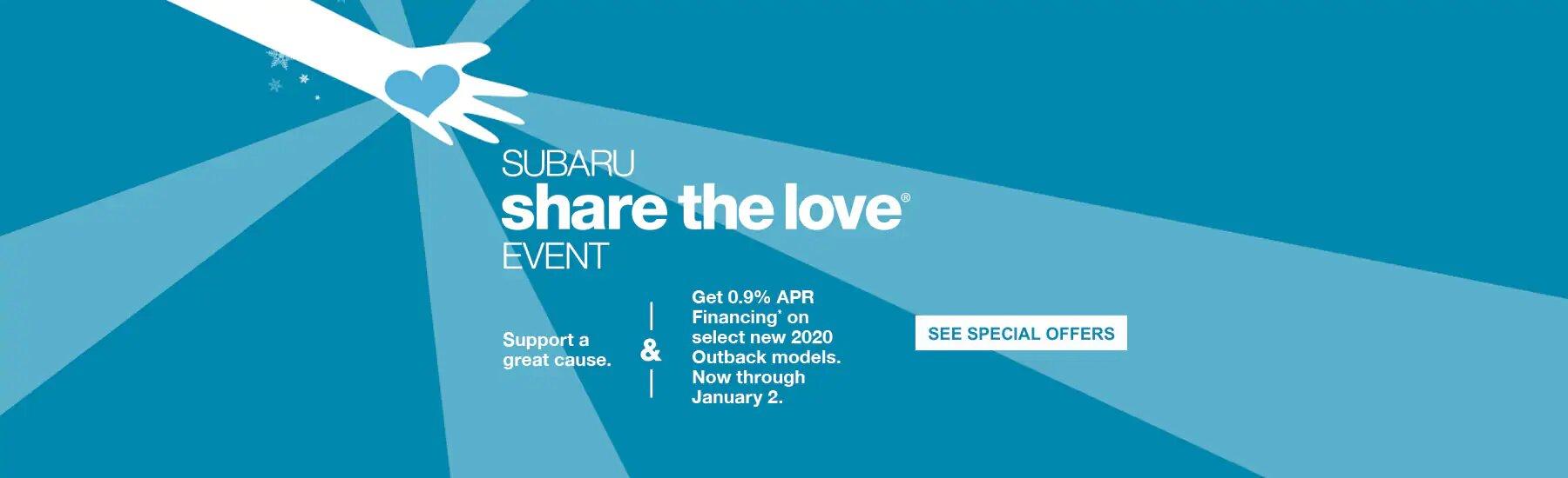 Don't Miss the Subaru Share the Love Event near Ward CO