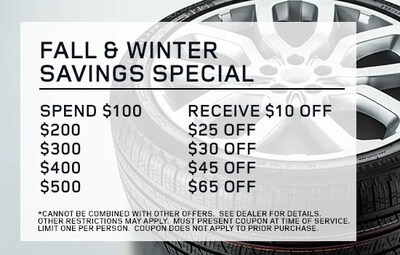 Fall and Winter Savings Special