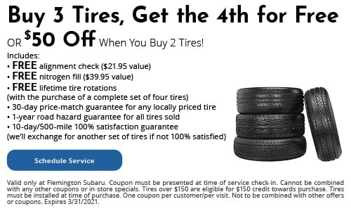Buy 3 Tires Get 1 Free Special