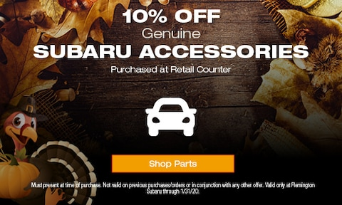 10% Off Subaru Accessories