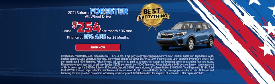 May 2021 Forester Special