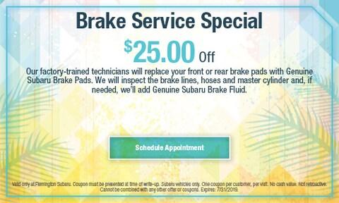 July 2019 Brake Special