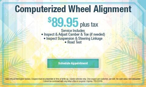 July 2019 Wheel Alignment