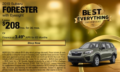 2019 May Forester Special