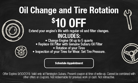 September Oil Change and Tire Rotation
