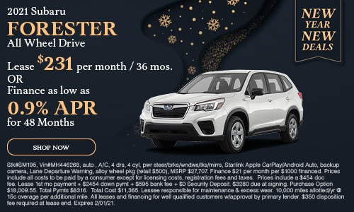 January 2021 Forester Special