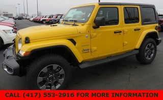 New 2019 Jeep Wrangler UNLIMITED SAHARA 4X4 Sport Utility 1C4HJXEN5KW507215 for sale in Joplin, MO