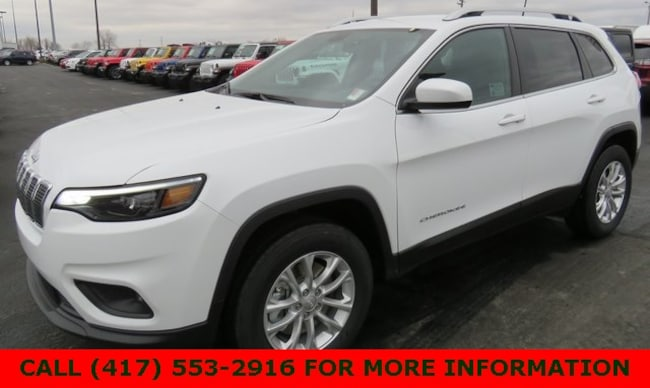 New 2019 Jeep Cherokee LATITUDE 4X4 Sport Utility 1C4PJMCX7KD368358 For Sale/Lease Joplin, MO