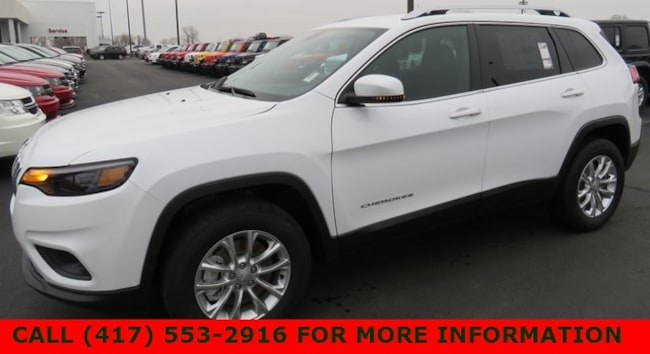 New 2019 Jeep Cherokee LATITUDE 4X4 Sport Utility 1C4PJMCX6KD363653 For Sale/Lease Joplin, MO