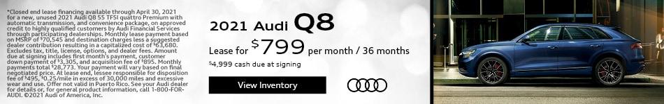 2021 Audi Q8 - $799 lease