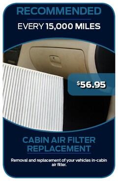 Cabin Air Filter 8/30/2019