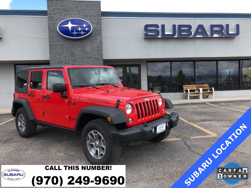 Featured Used 2016 Jeep Wrangler JK Unlimited Rubicon 4x4 SUV 61475 for sale in Montrose, CO